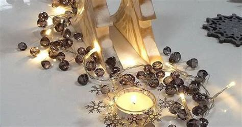graphite crystal light garland inspiration beautiful table settings jingle bells garlands