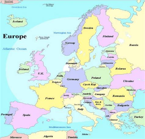 europe map with seas world map with seas and oceans labeled gallery word map