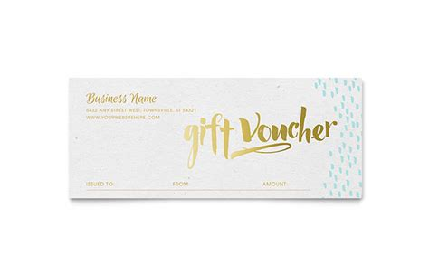 template for coupons the size of gift cards gold foil gift certificate template design