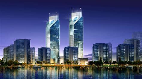 Architectural Renderings gratte ciel 3d city commercial rendus architecturaux 01