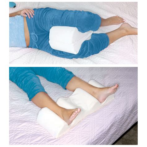 legs ache at night in bed leg wedge pillow best memory foam 2 in 1 knee pillows