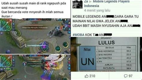 kata kata  pacar  sibuk main game mobile legend