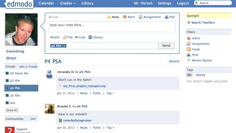 edmodo home using edmodo