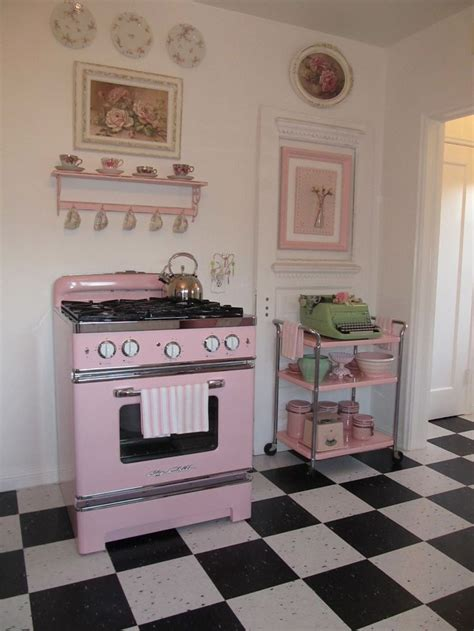 25 best ideas about retro pink kitchens on