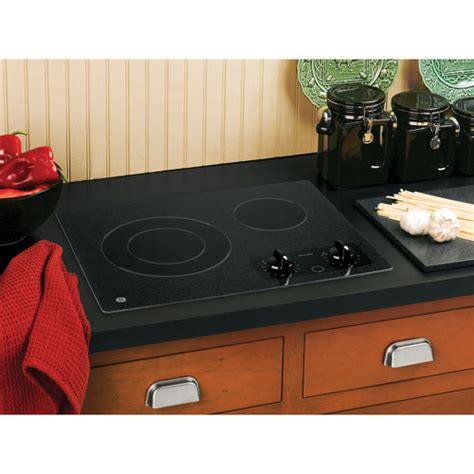 top electric cooktops ge compact 21 quot smooth top electric cooktop jp256bmbb