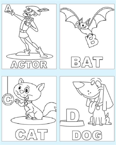 preschool alphabet coloring pages abc coloring pages