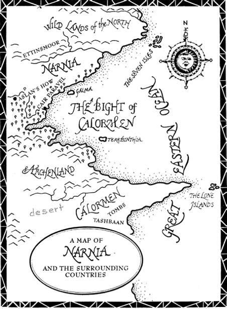 The Lion, the Witch and the Wardrobe   Narnia, Map of