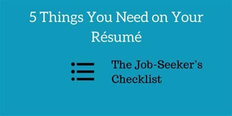 the seeker s checklist 5 things you need on your r 233 sum 233