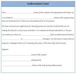 Authorization Letter Template letter template for authorization example of authorization letter