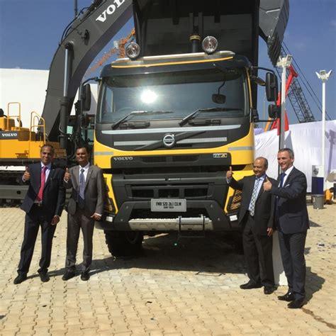 volvo trucks bangalore volvo india unveils mega multiaxle trucks for indian