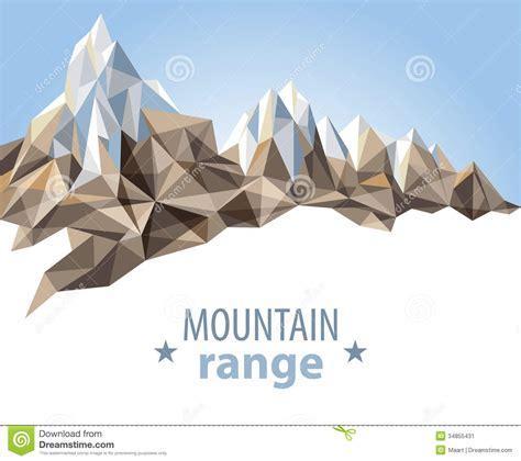 Origami Mountain - mountain range stock image image 34855431