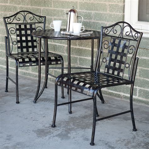 iron patio furniture set mainstays jefferson wrought iron 7 patio dining set seats 6 walmart