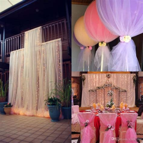 Wedding Arch Arrangement With Tulle by Diy Custom Madetulle Wedding Decorations Chair Covers