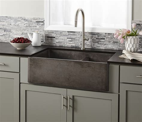 double sinks for kitchens farmhouse double bowl concrete kitchen sink native trails