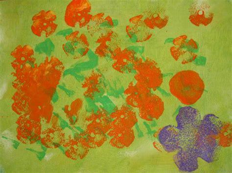 acrylic painting with sponge acrylic sponge painting for
