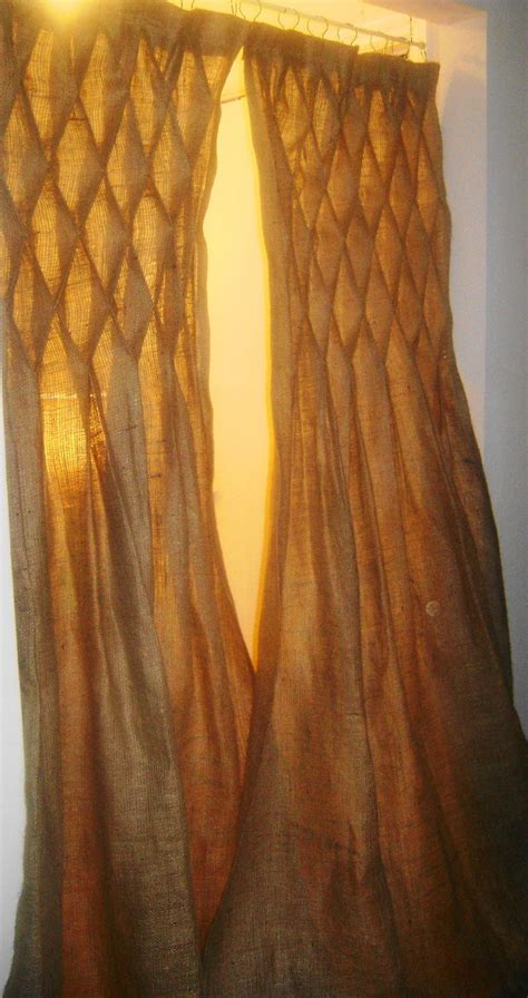 smocked burlap curtains 23 best images about curtains on pinterest the floor