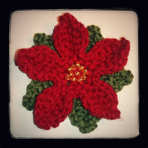 pattern crochet poinsettia free christmas poinsettia flower crochet pattern