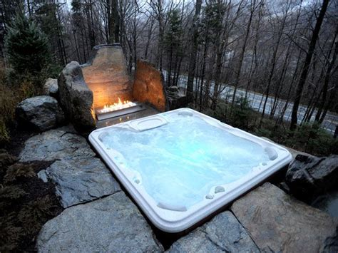 hot tub next to fire pit dream home ideas pinterest