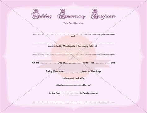 Wedding Anniversary Certificate Printable Template Marriagecertificatetemplate Com Wedding Wedding Anniversary Certificate Template