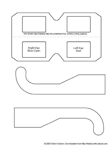 How To Make Your Own 3d Glasses Paper Craft Templates Template And Glass How To Build Your Own Template