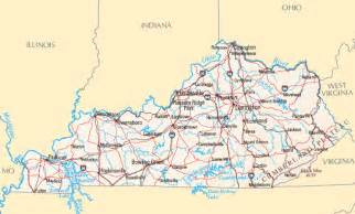 Kentucky Usa Map by Kentucky Map