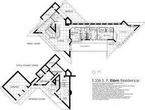frank lloyd wright house plans floor plan the elam house