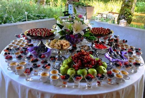 Double Wedding At Bridal Veil Lakes Dessert Buffet Catering