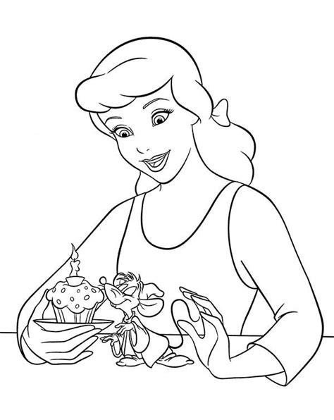 princess birthday cake coloring page walt disney princess cinderella birthday cake in