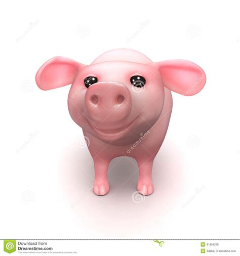 3d Piglet 3d piglet stock illustration image of trotters character