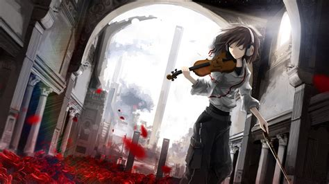anime wallpaper violin anime girl with violin wallpapers and images wallpapers