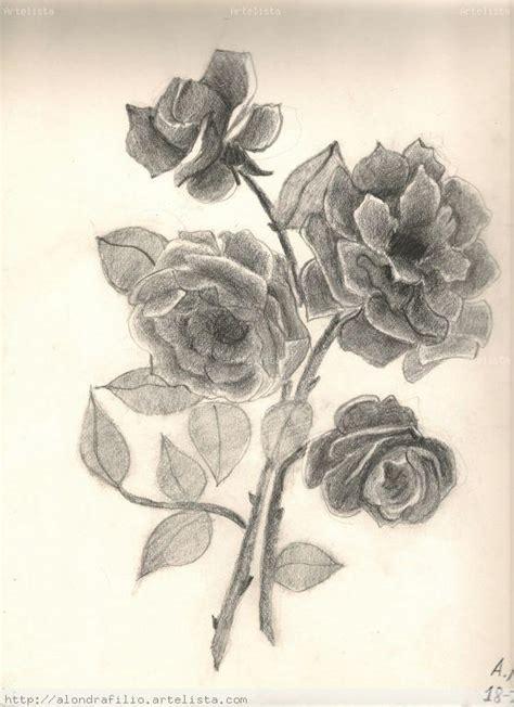 imagenes a lapiz flores pin dibujos lapiz carbon anny imagenes on pinterest