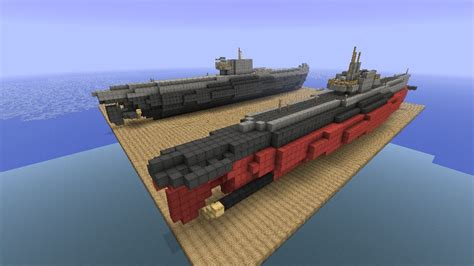 minecraft ww1 boat u boot submarine minecraft project