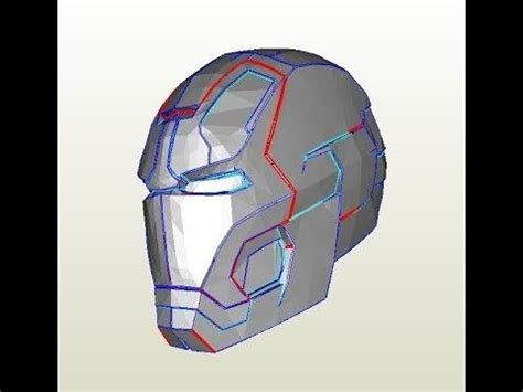 27 iron man mark 42 helmet diy 1 8 print cut