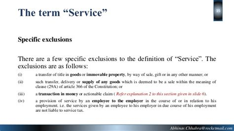 service definition meaning of the term quot service quot in service tax as per finance act 1994