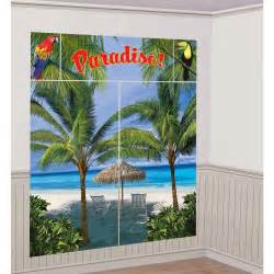 palm trees paradise scene setter wall decoration birthday