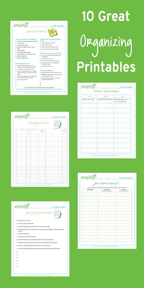 printable organizing checklists 12 great organizing printables