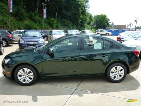 chevy green rainforest green metallic 2014 chevrolet cruze ls exterior