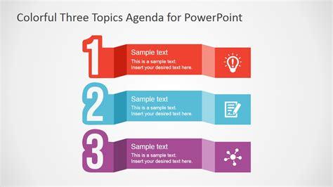 colorful  topics agenda  powerpoint slidemodel