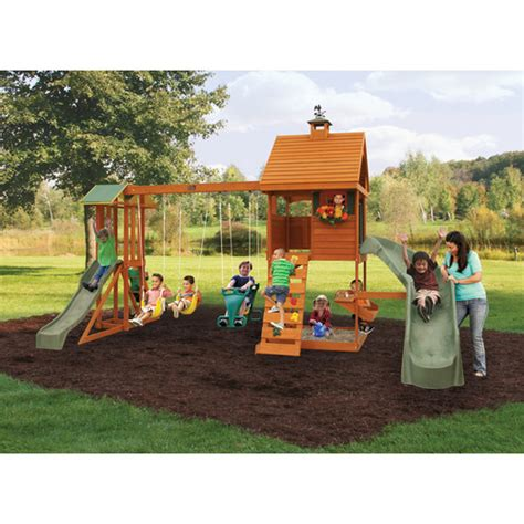 swing sets backyard big backyard swing sets outdoor furniture design and ideas