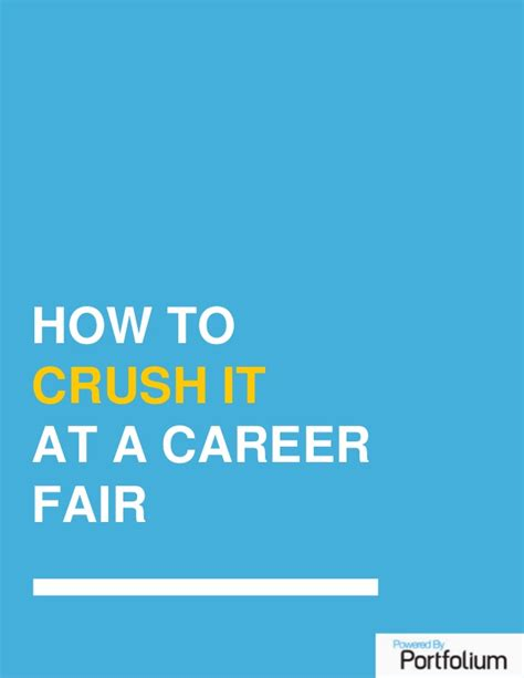 how to create your next how to make the most of your next career fair