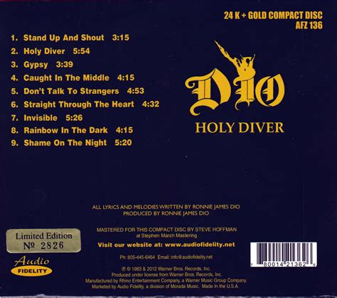 back of cd tapio s ronnie dio pages dio cd discography
