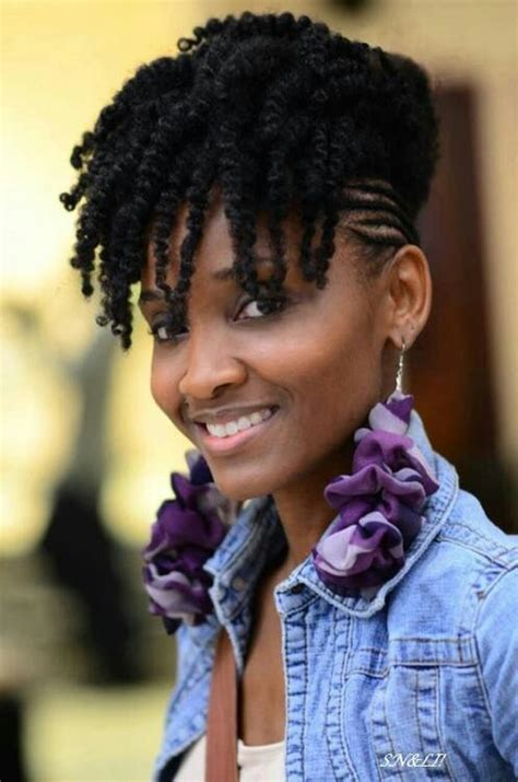 Twist Hair Styles To Cover Bangs | twist out bang natural hair styles pinterest