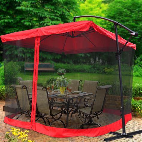 Patio Umbrella Mesh 9 Square Outdoor Patio Hanging Offset Aluminum Umbrella