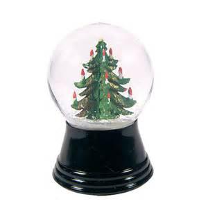 perzy snow globe small christmas tree at brookstone buy now