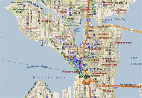 seattle map space needle our one day in seattle