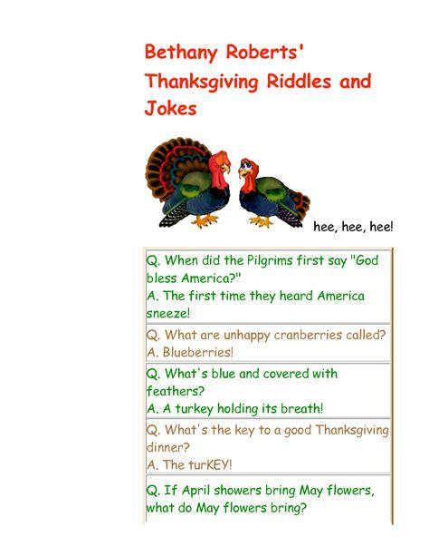 printable thanksgiving jokes and riddles kids thanksgiving riddles images