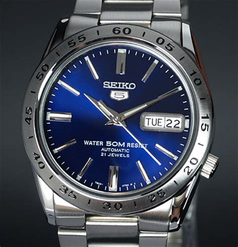 Jam Tangan Seiko5 By Jam 99 by Mens Seiko 5 Blue Sheen Day Date Auto Stainless Steel