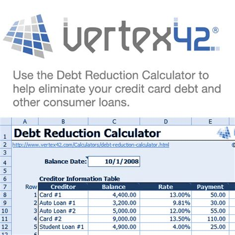 debt reduction calculator debt reduction calculator clickbank