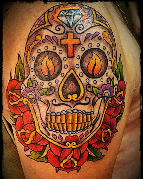tattoo designs of sugar skulls 125 best sugar skull designs meaning 2018