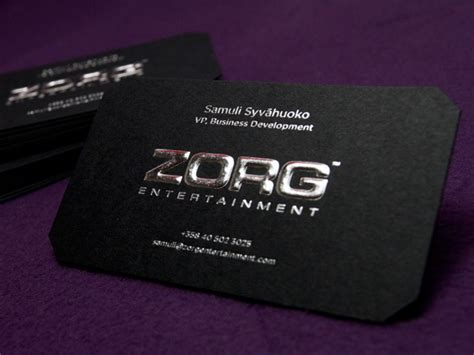 business card template embossed jet black business card embossed with silver foil zorg